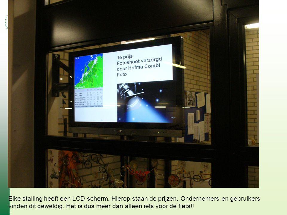 Elke stalling heeft een LCD scherm. Hierop staan de prijzen