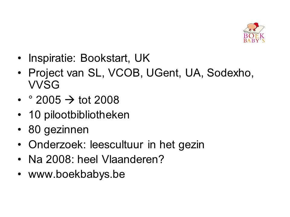 Inspiratie: Bookstart, UK