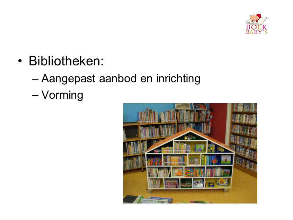 Bibliotheken: Aangepast aanbod en inrichting Vorming