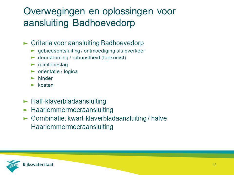 Overwegingen en oplossingen voor aansluiting Badhoevedorp