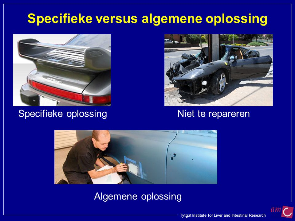 Specifieke versus algemene oplossing