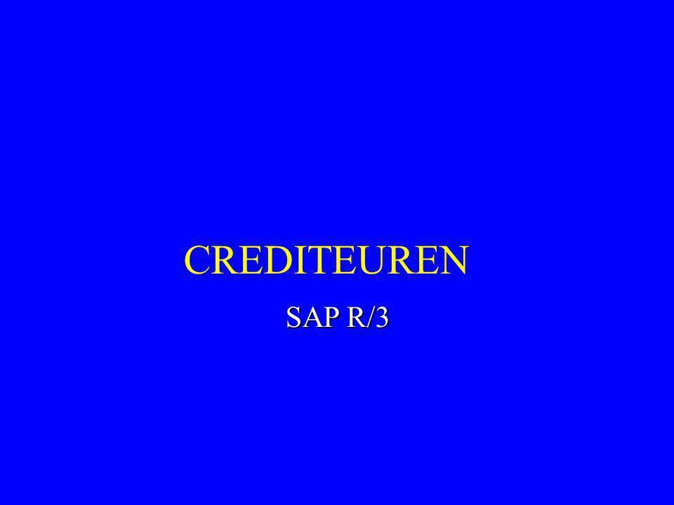 CREDITEUREN SAP R/3 1