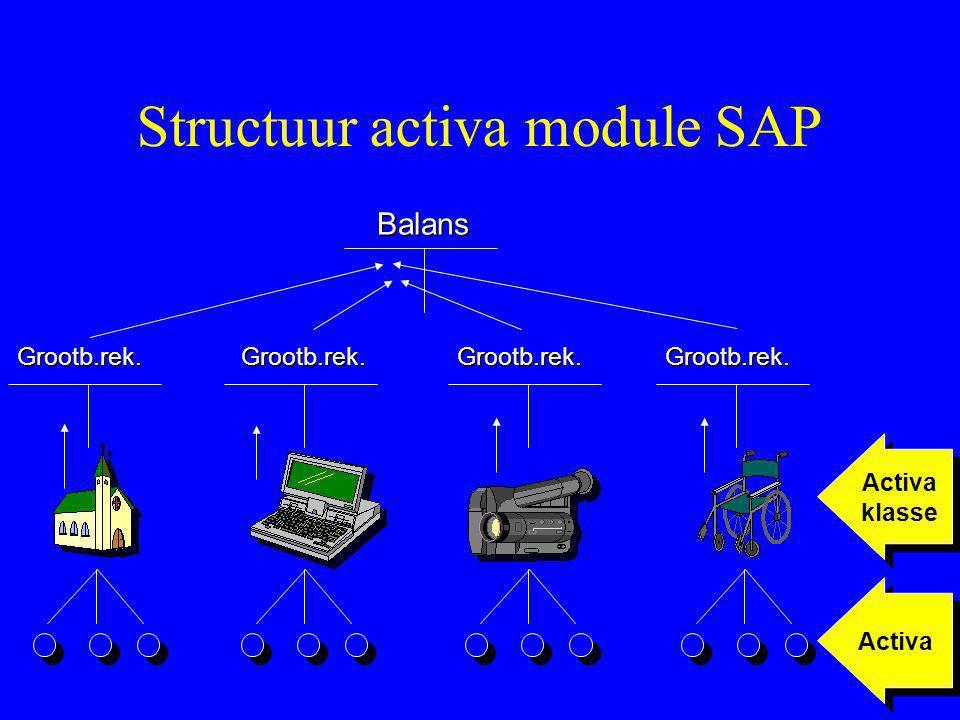 Structuur activa module SAP