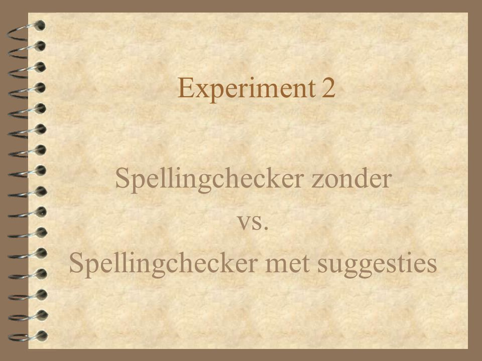 Spellingchecker zonder vs. Spellingchecker met suggesties