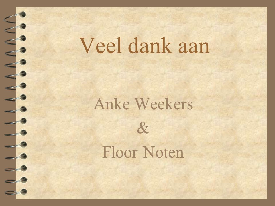 Anke Weekers & Floor Noten