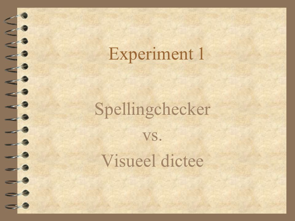 Spellingchecker vs. Visueel dictee