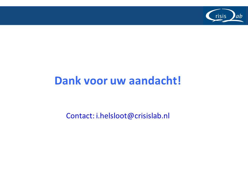 Contact: i.helsloot@crisislab.nl