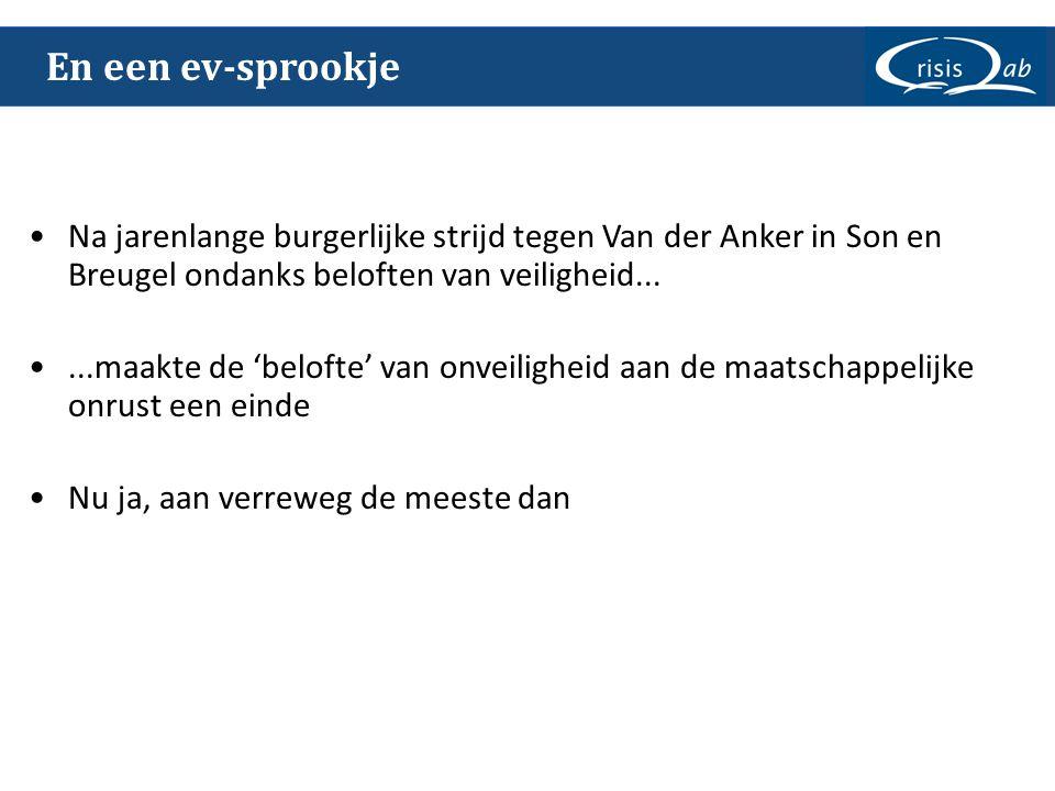 En een ev-sprookje Na jarenlange burgerlijke strijd tegen Van der Anker in Son en Breugel ondanks beloften van veiligheid...