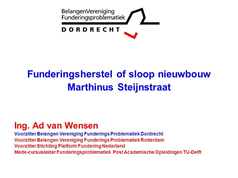 Funderingsherstel of sloop nieuwbouw Marthinus Steijnstraat