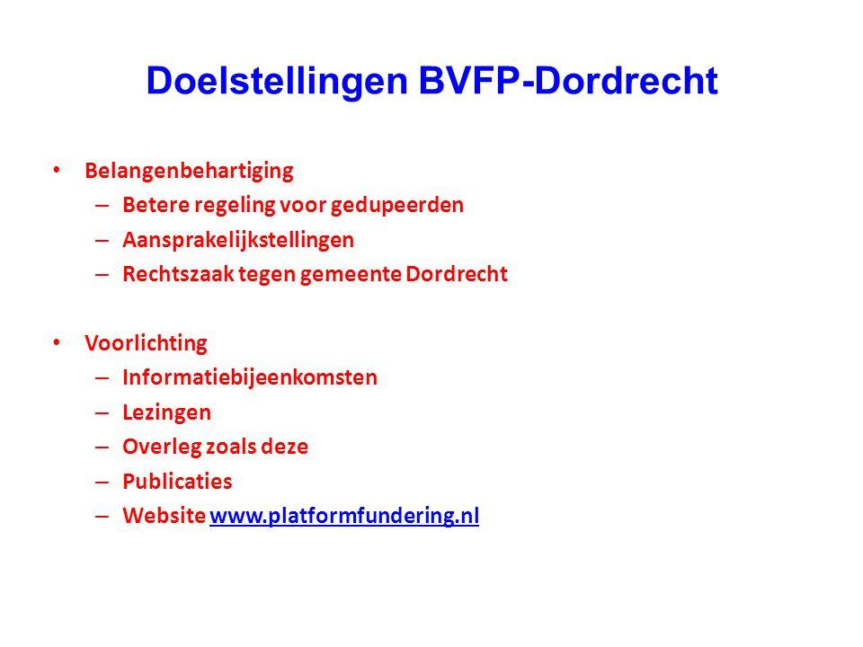 Doelstellingen BVFP-Dordrecht