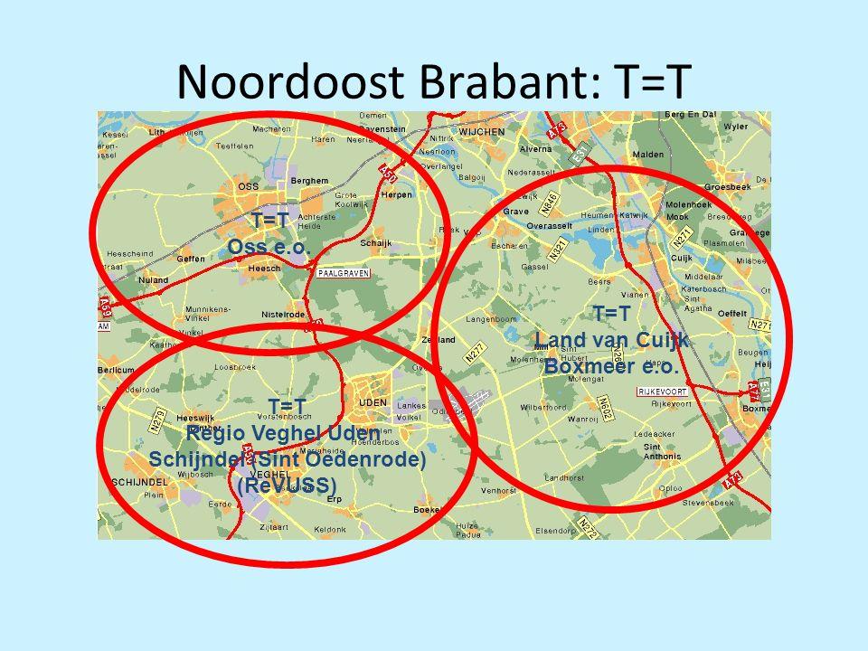 Noordoost Brabant: T=T