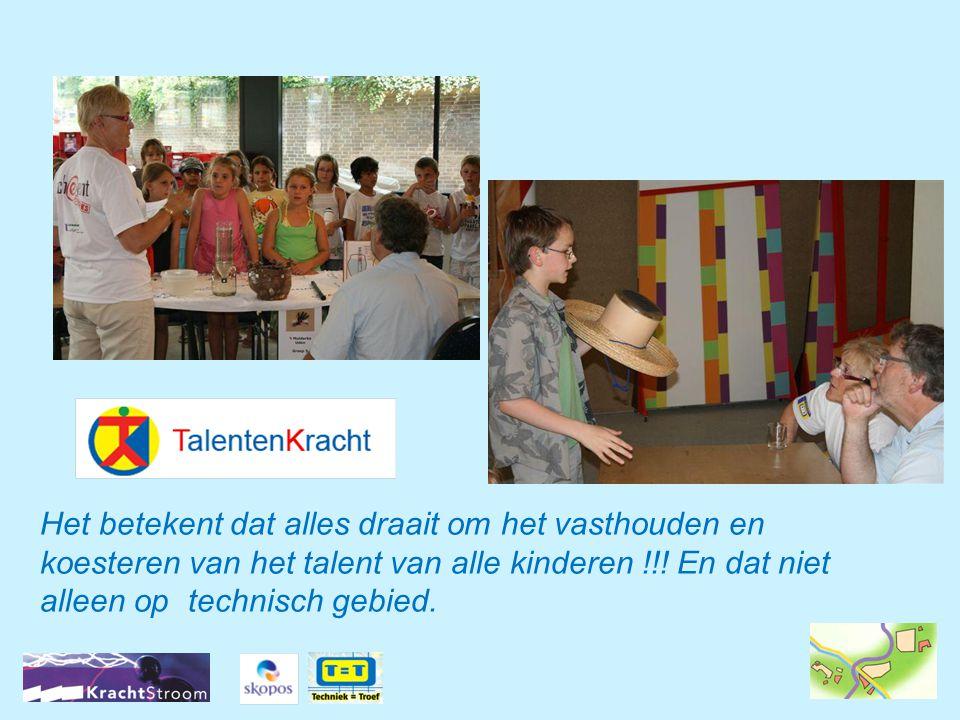 Het betekent dat alles draait om het vasthouden en koesteren van het talent van alle kinderen !!.