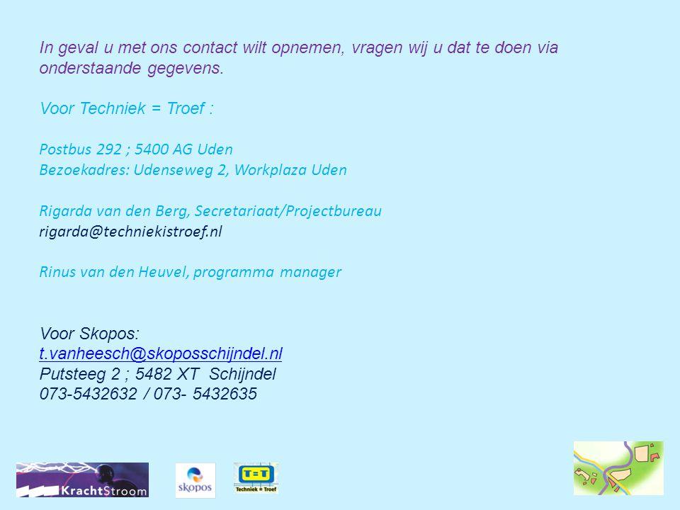 In geval u met ons contact wilt opnemen, vragen wij u dat te doen via onderstaande gegevens.