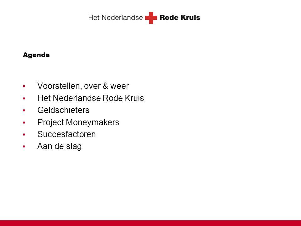 Agenda Voorstellen, over & weer Het Nederlandse Rode Kruis