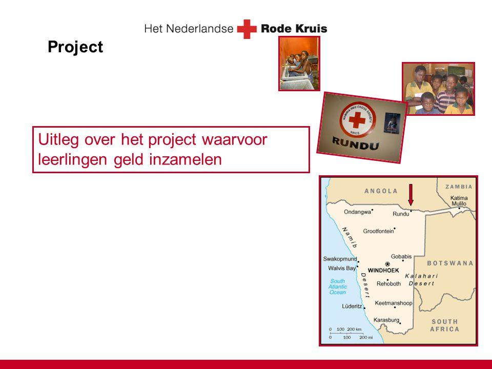 Project Uitleg over het project waarvoor leerlingen geld inzamelen