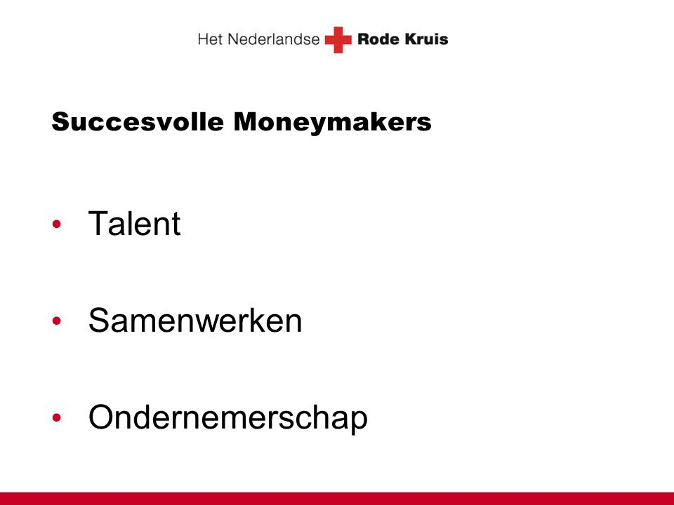 Succesvolle Moneymakers