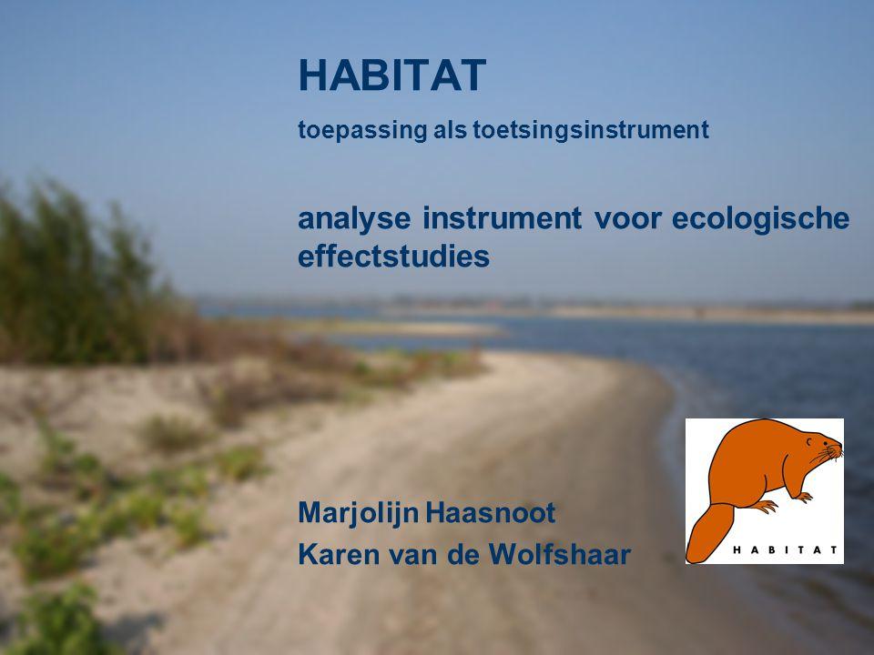 HABITAT analyse instrument voor ecologische effectstudies