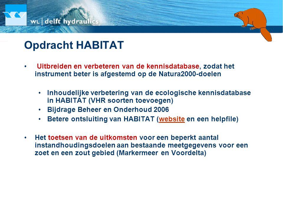 Opdracht HABITAT Uitbreiden en verbeteren van de kennisdatabase, zodat het instrument beter is afgestemd op de Natura2000-doelen.