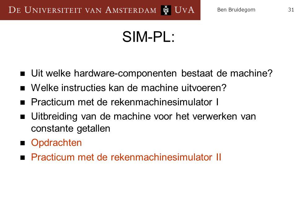 SIM-PL: Uit welke hardware-componenten bestaat de machine