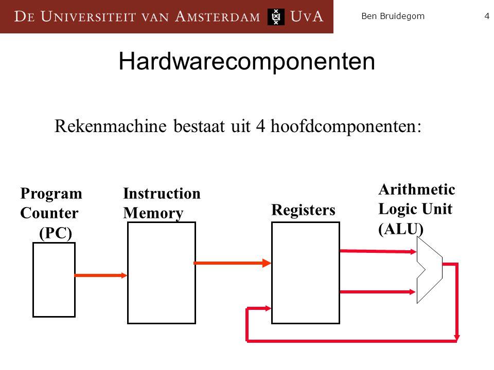 Hardwarecomponenten Rekenmachine bestaat uit 4 hoofdcomponenten: