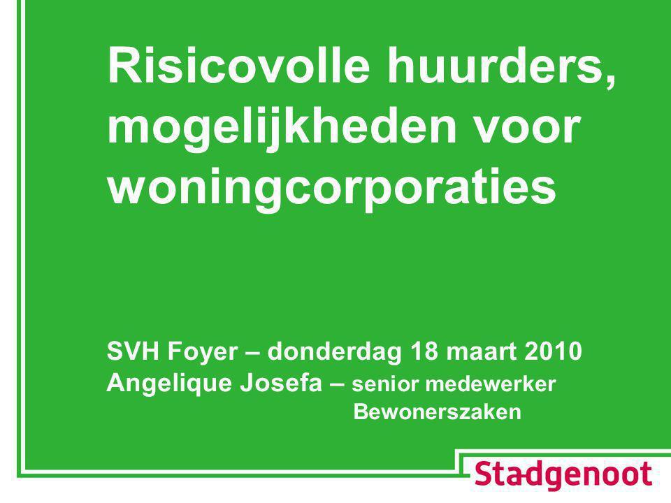 Risicovolle huurders, mogelijkheden voor woningcorporaties