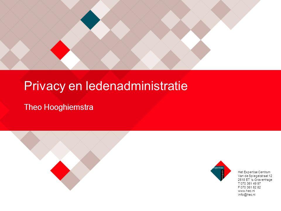 Privacy en ledenadministratie