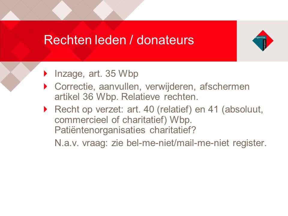 Rechten leden / donateurs