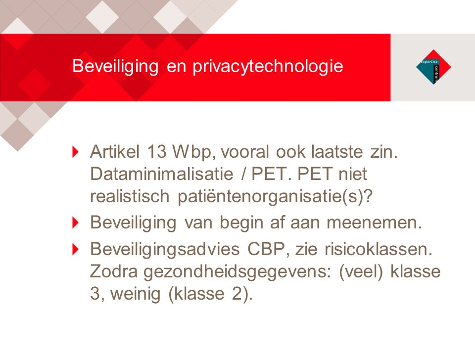 Beveiliging en privacytechnologie
