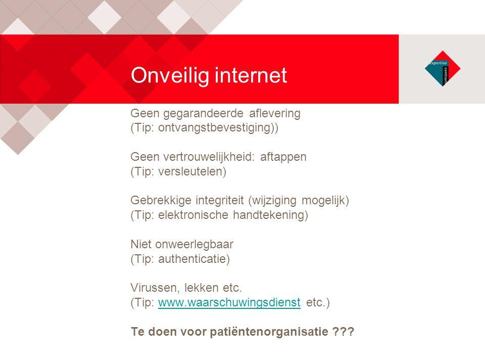 Onveilig internet Geen gegarandeerde aflevering