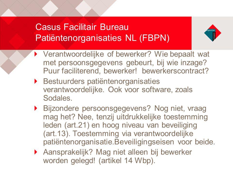 Casus Facilitair Bureau Patiëntenorganisaties NL (FBPN)