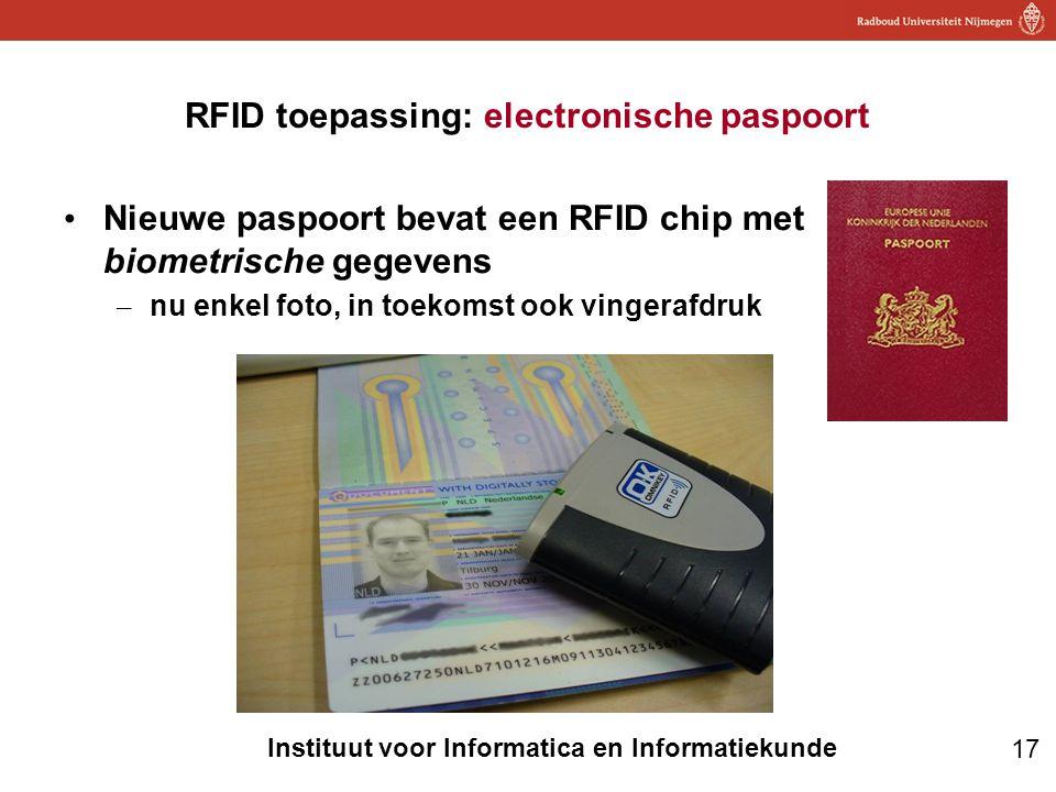 RFID toepassing: electronische paspoort