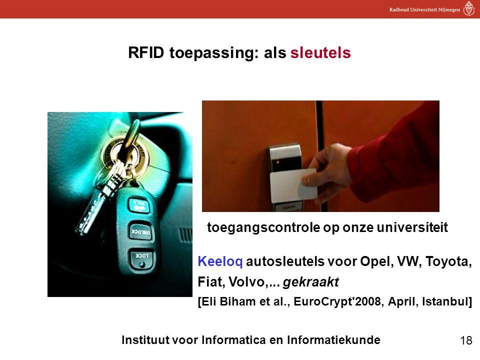 RFID toepassing: als sleutels