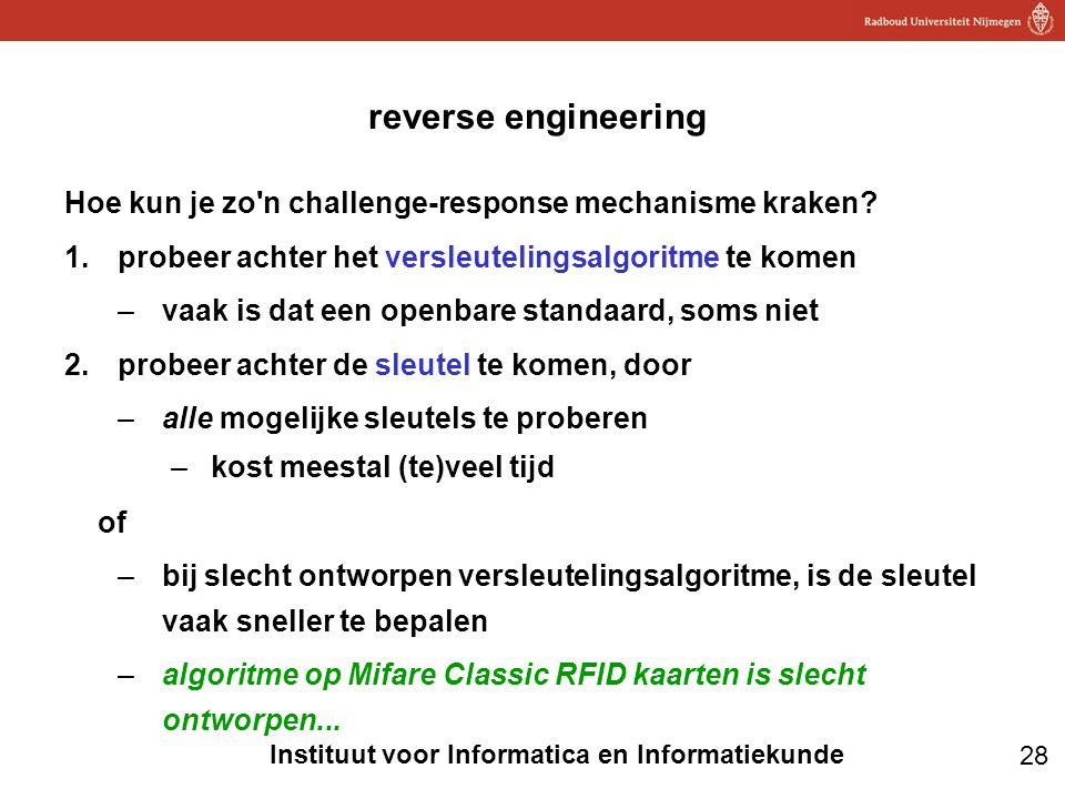 reverse engineering Hoe kun je zo n challenge-response mechanisme kraken probeer achter het versleutelingsalgoritme te komen.
