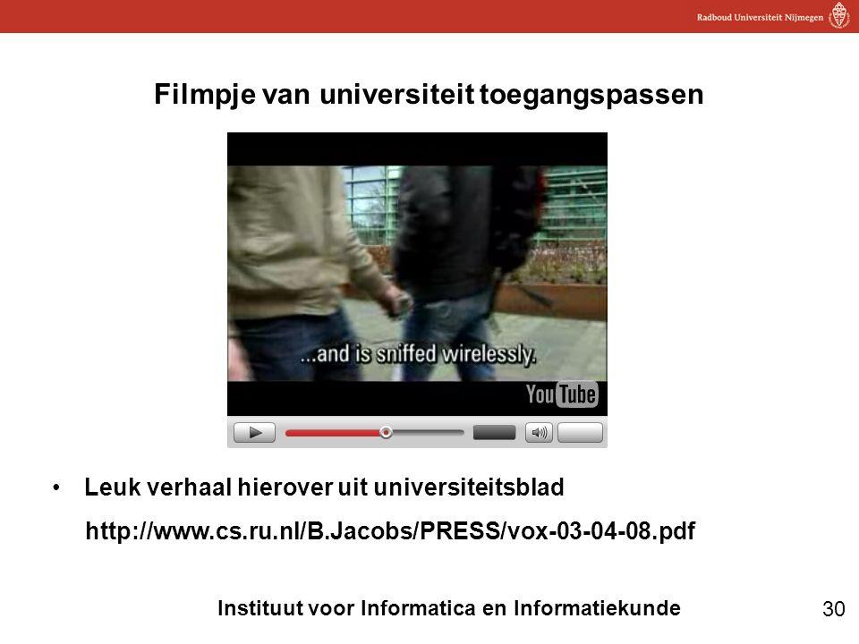 Filmpje van universiteit toegangspassen