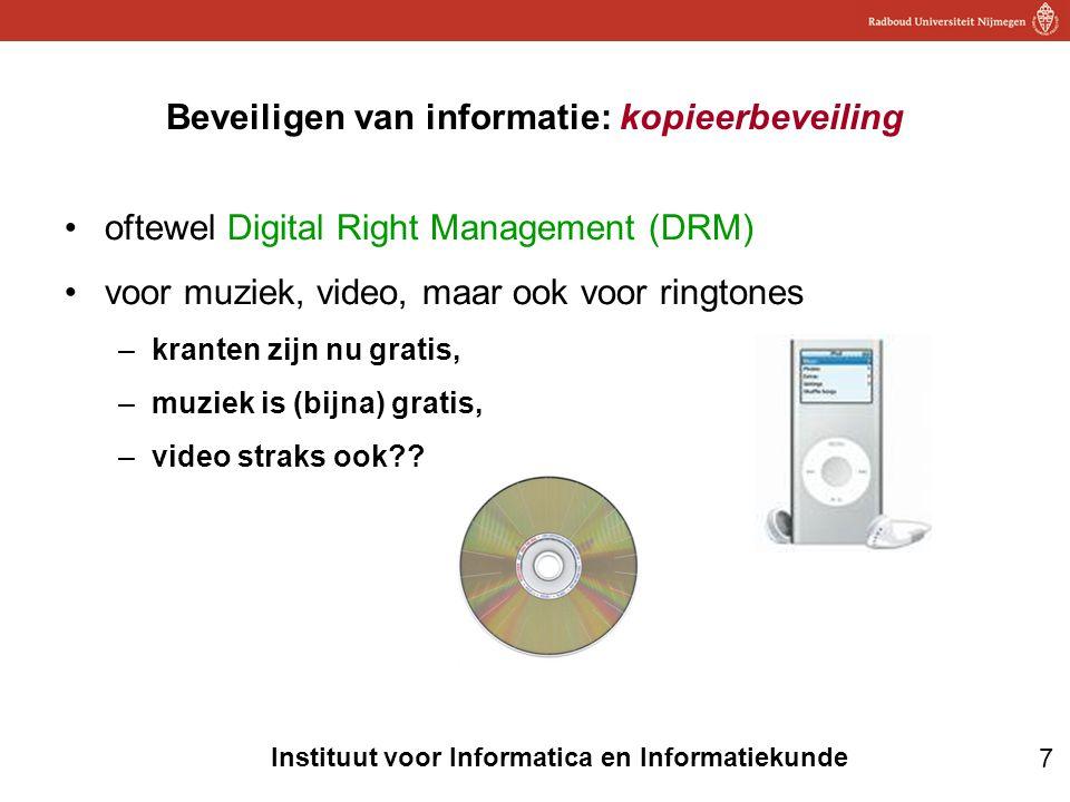 Beveiligen van informatie: kopieerbeveiling