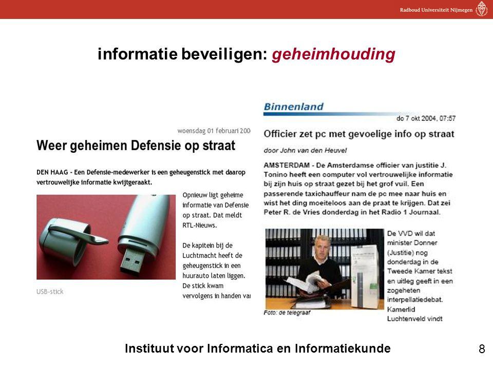 informatie beveiligen: geheimhouding
