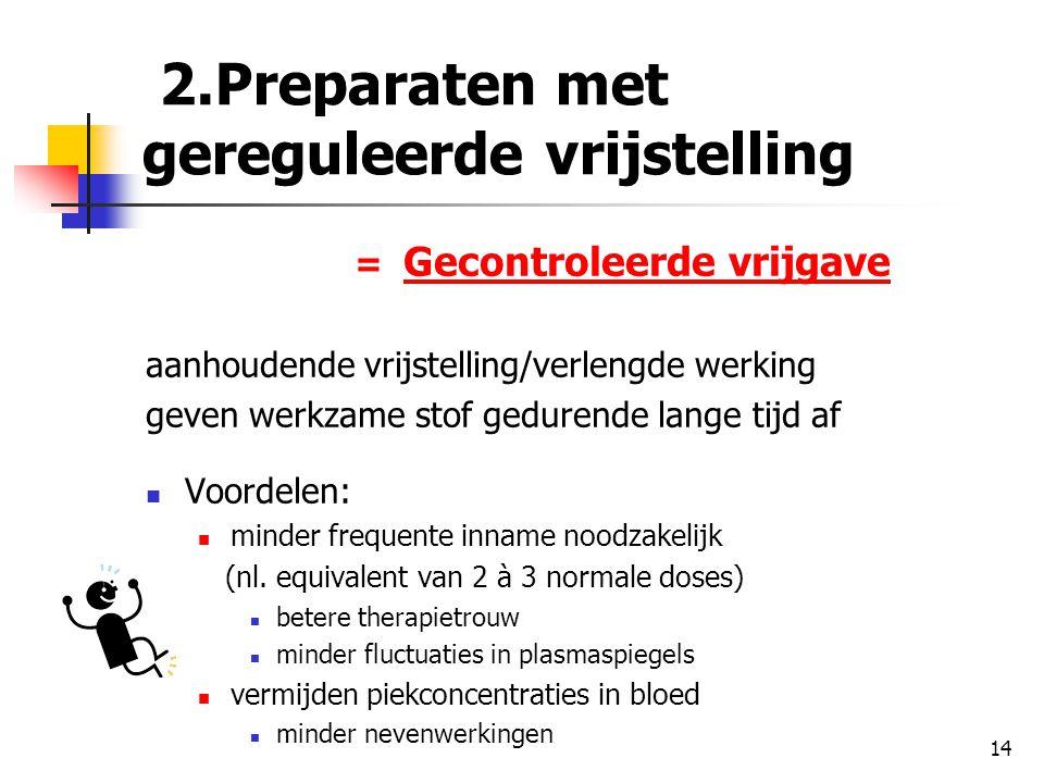 2.Preparaten met gereguleerde vrijstelling