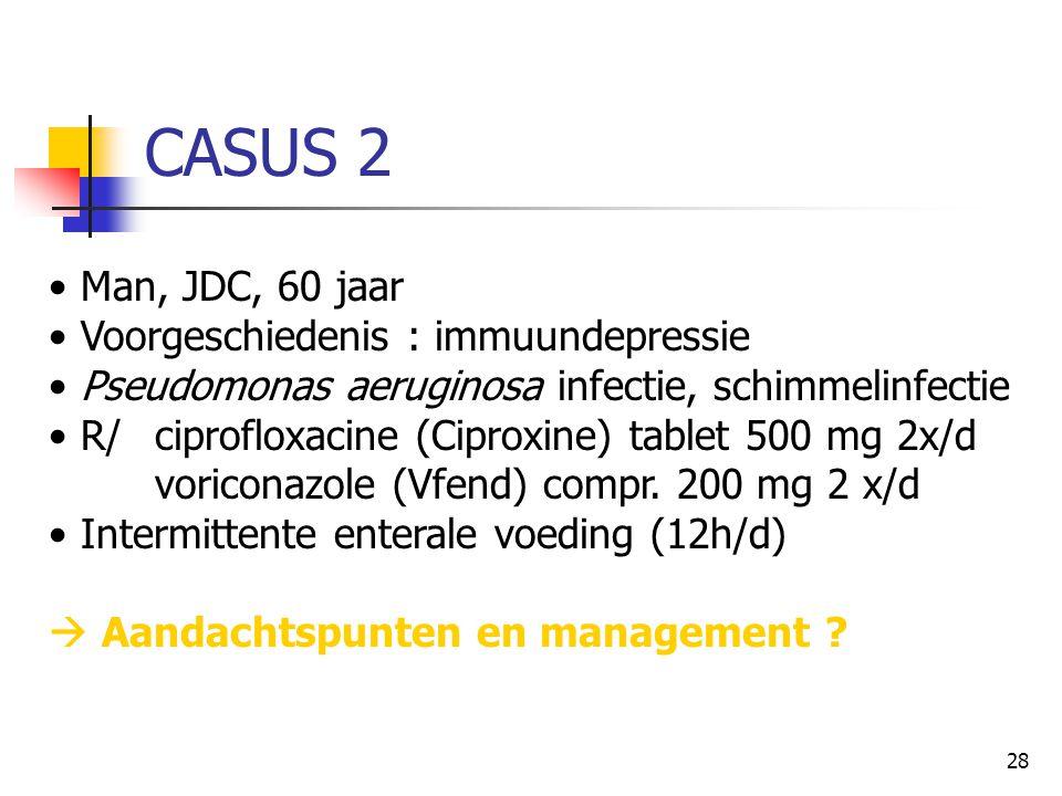 CASUS 2 Man, JDC, 60 jaar Voorgeschiedenis : immuundepressie