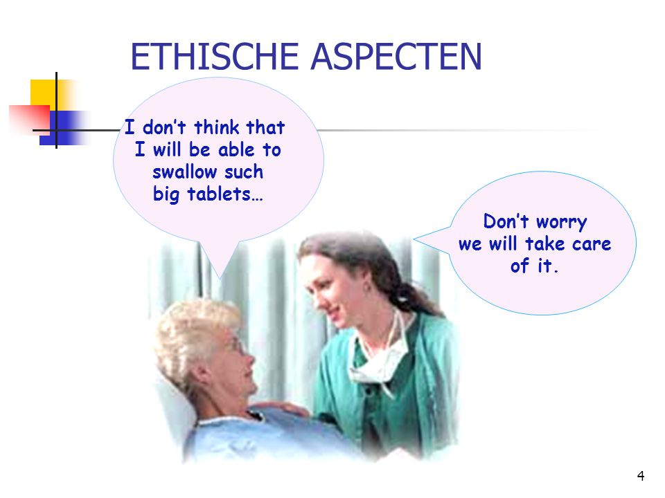 ETHISCHE ASPECTEN I don't think that