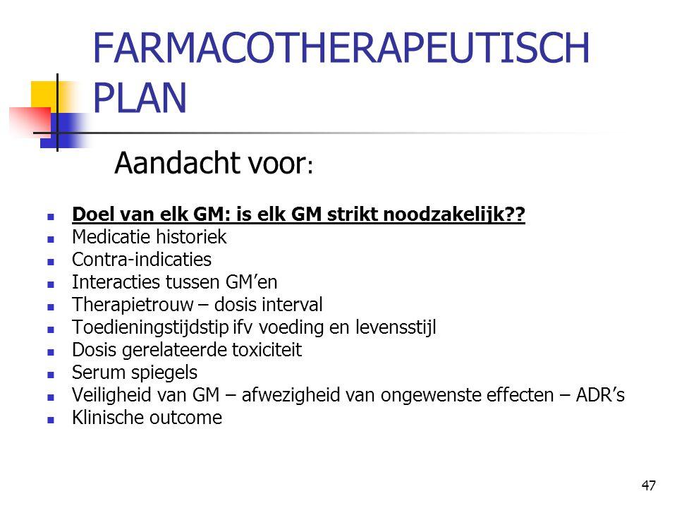 FARMACOTHERAPEUTISCH PLAN