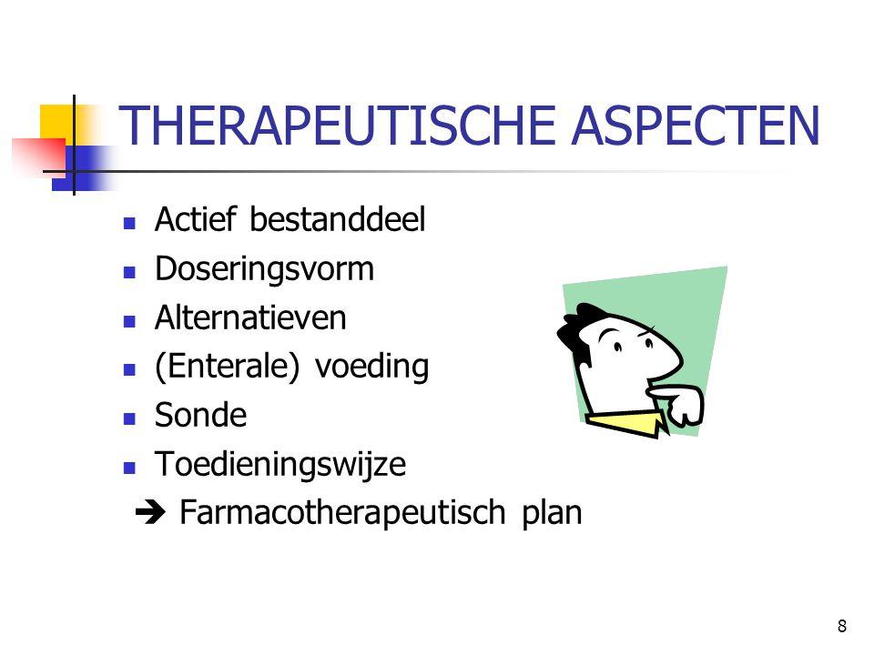 THERAPEUTISCHE ASPECTEN