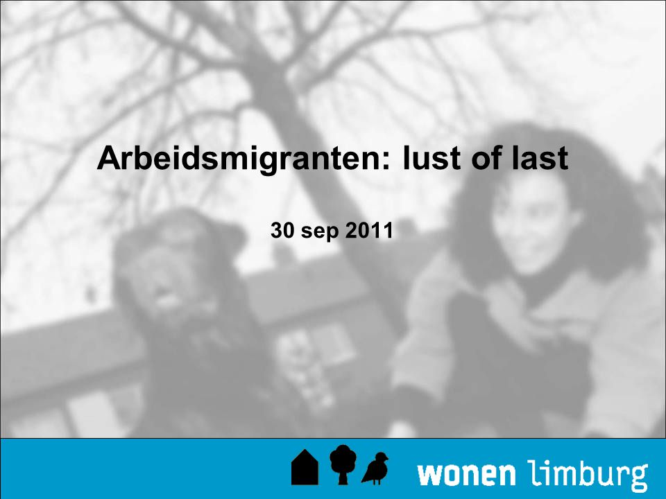 Arbeidsmigranten: lust of last 30 sep 2011