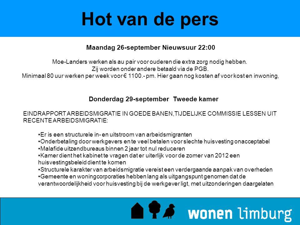 Hot van de pers Maandag 26-september Nieuwsuur 22:00
