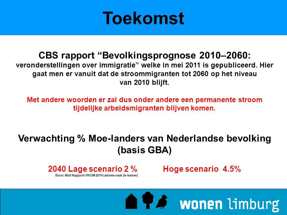 Toekomst CBS rapport Bevolkingsprognose 2010–2060: