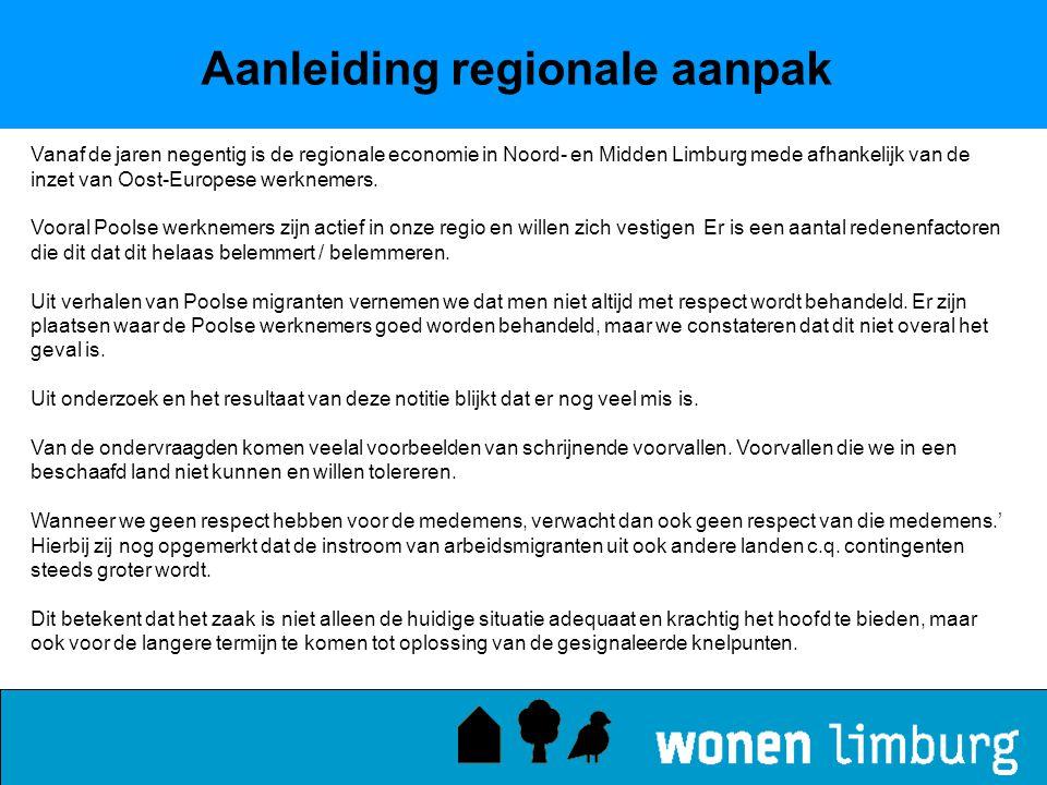Aanleiding regionale aanpak