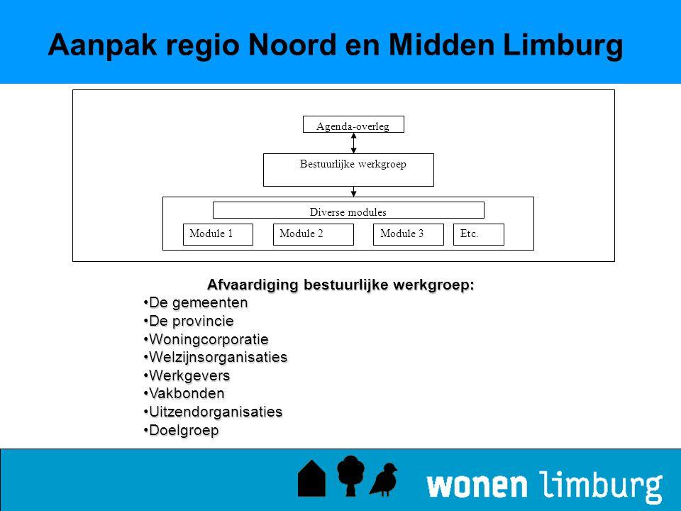 Aanpak regio Noord en Midden Limburg