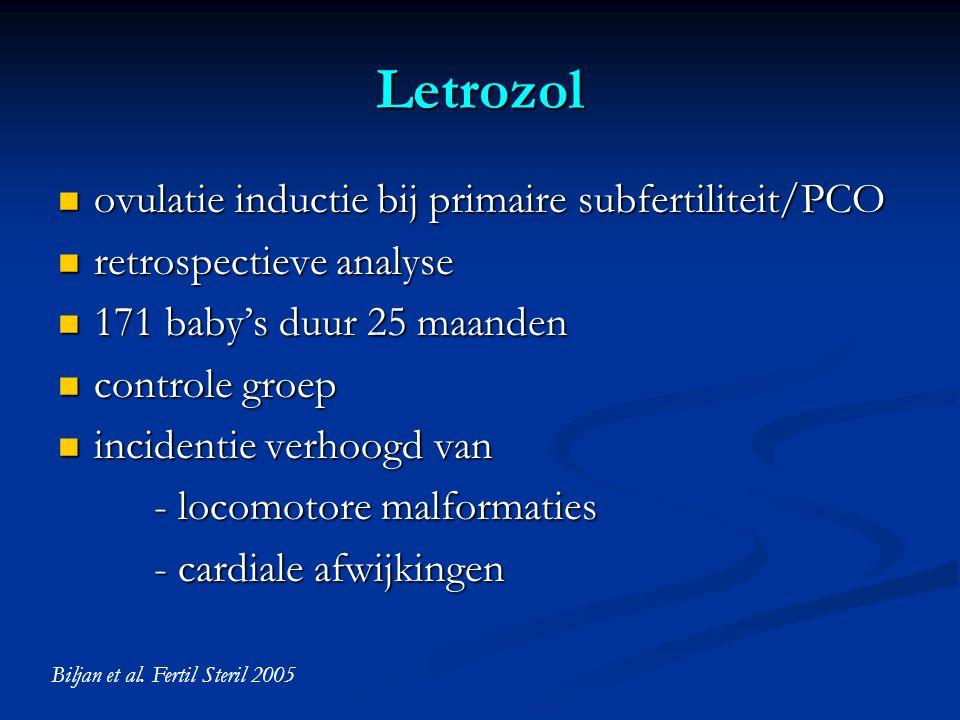 Letrozol ovulatie inductie bij primaire subfertiliteit/PCO