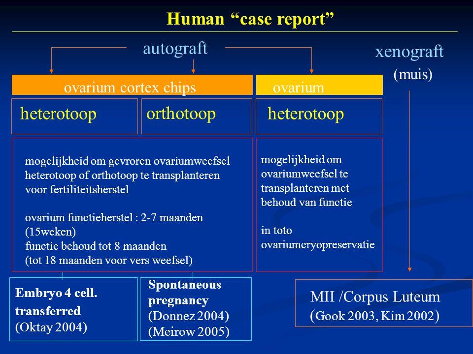 Human case report autograft xenograft (muis) orthotoop heterotoop