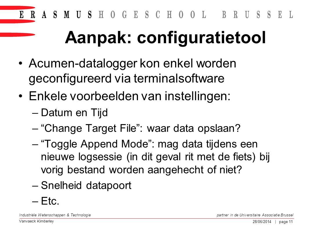 Aanpak: configuratietool