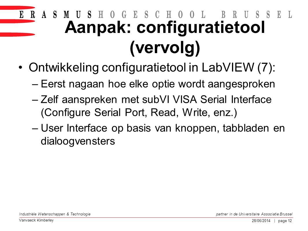 Aanpak: configuratietool (vervolg)